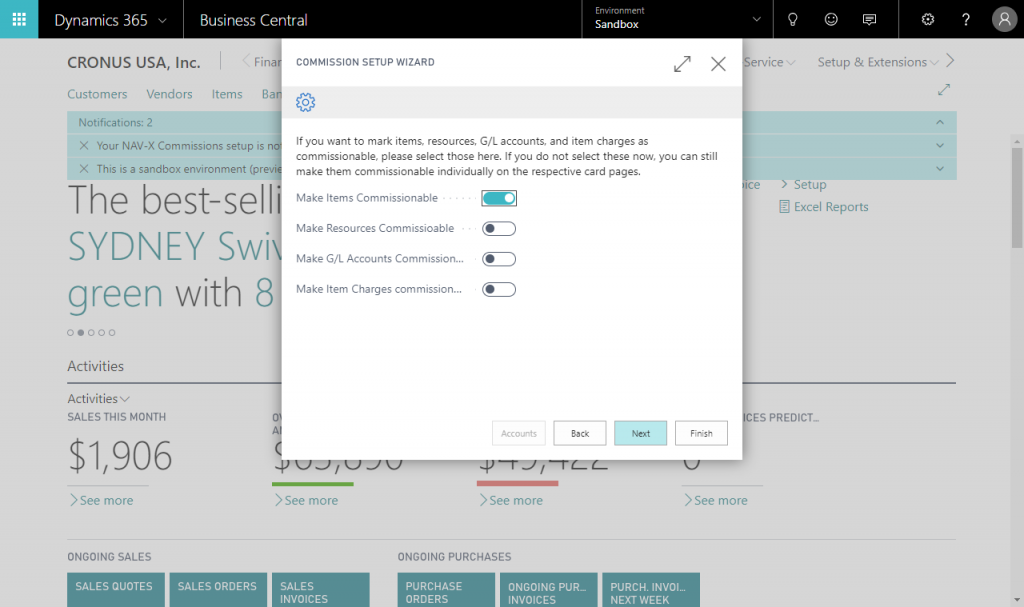 NAV-X Commissions – Simplify commission calculations within Microsoft Dynamics 365 Business Central